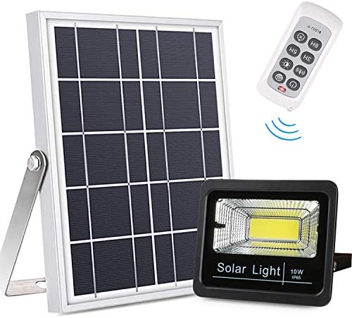 Bemexred Solar Flood Lights Outdoor Indoor Remote Control Solar Lights Dusk to Dawn Auto On product image