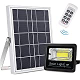 Bemexred Solar Flood Lights Outdoor/Indoor, Remote Control Solar Lights Dusk to Dawn, Auto On/Off Motion Sensor Solar Security Lights with 800Lm IP65 Waterproof for Yard, Barn, Garden, Patio