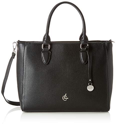 L.Credi Damen Handtasche Shopper, Schwarz (Black), 24x27x13 cm