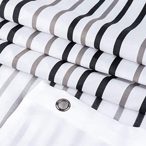 Curtain Bad Duschvorhang, Anti-Schimmel-Polyester-Gewebe Duschvorhang, Ökologisch Drucken Und Färben, Gesundheit U0026 Sicherheit,150 * 200Cm