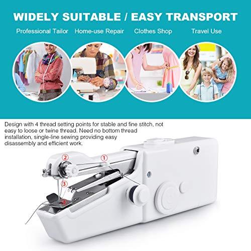 Aonny Nähmaschine,Handnähmaschine Mini Nähmaschine Tragbar für Kleidung Stoffvorhänge Cordless Home Reisen