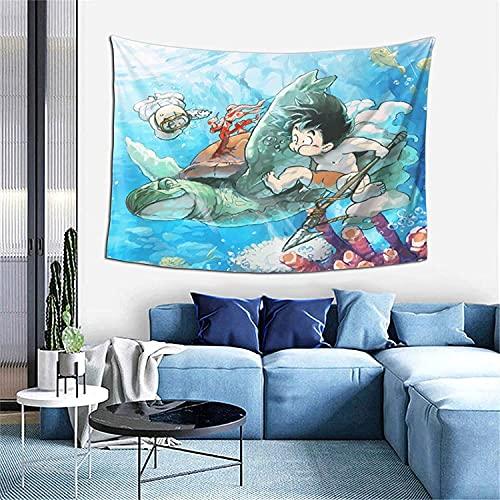 YWJFASHION Stampa 3D Coperta da parete Appeso a parete Arazzi da parete Dragon Ball Art, per soggiorno e decorazioni da parete