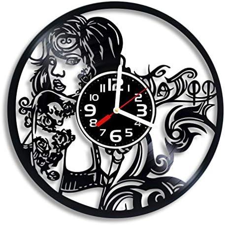 Art Vintage Tattoo Studio Vinyl Wall Clock Tattoo Studio Gift for Any Occasion Christmas Birthday product image