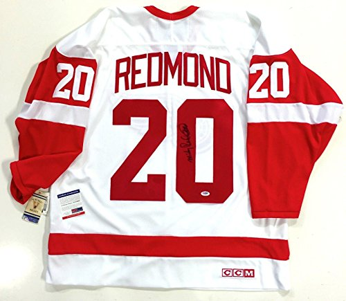 Autographed Mickey Redmond Jersey - Ccm Vintage Coa Aa18932 - PSA/DNA Certified - 5
