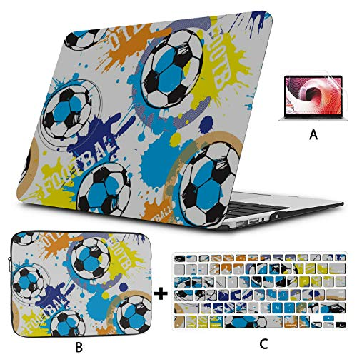 Mac Laptop Cover Cartoon Cute Doodle Comic Round Ball Macbook Air Protective Cover Hard Shell Mac Air 11'/13' Pro 13'/15'/16' With Notebook Sleeve Bag For Macbook 2008-2020 Version