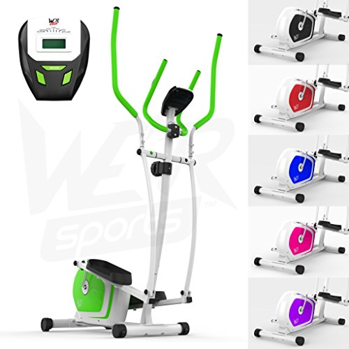 We R Sports Elliptical Cross Trainer & Exercise Bike 2-IN-1 Home Cardio Workout (Green)