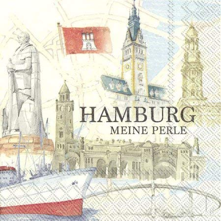 20 IHR Servietten Hamburg meine Perle