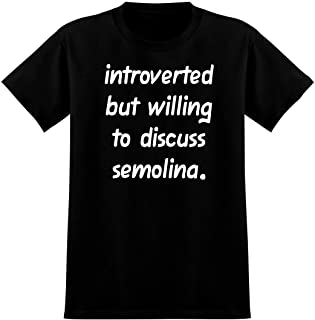 Introverted But Willing to Discuss semolina - Soft Men's T-Shirt