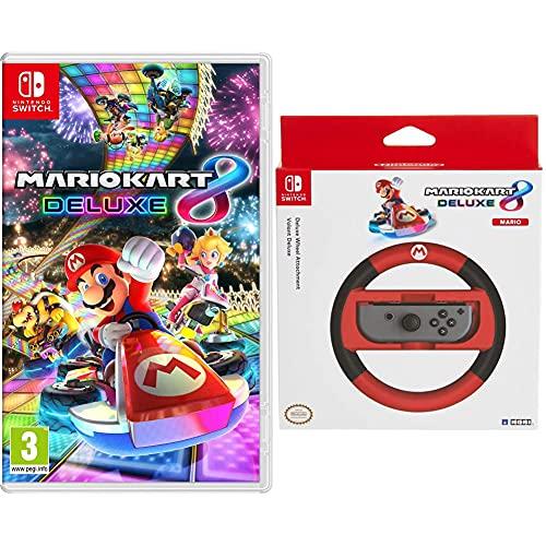 Mario Kart 8 Deluxe Nsw - Other - Nintendo Switch & Hori Volante Joy-Con Mario Kart 8 Deluxe (Versione Mario) - Ufficiale Nintendo - - Nintendo Switch