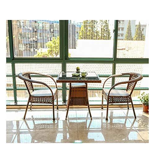WANGQW Juego de sillas de Mesa de conversación de Patio, Juego de Muebles de jardín de ratán Muebles de Patio Muebles de jardín Liquidación de Muebles de jardín de ratán Mesa de Centro de Patio