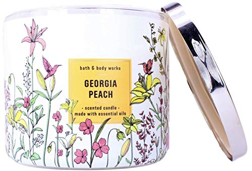 White Barn Bath and Body Works Georgia Peach 3 Wick Scented Candle 14.5 Ounce (2020)