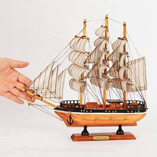 Ptcta Scultura Decorativa Decorazioni Modello Barca a Vela Soggiorno Decorazioni Mobile TV Armadio Vino Ingresso Ufficio libreria Simulazione Modello Barca Scultura da Parete Toscano