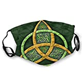 Celtic Trinity Knot - Irish Face Mask for Women & Men Anti Filter Dust Adjustable Reusable Cloth Washable Masks Black