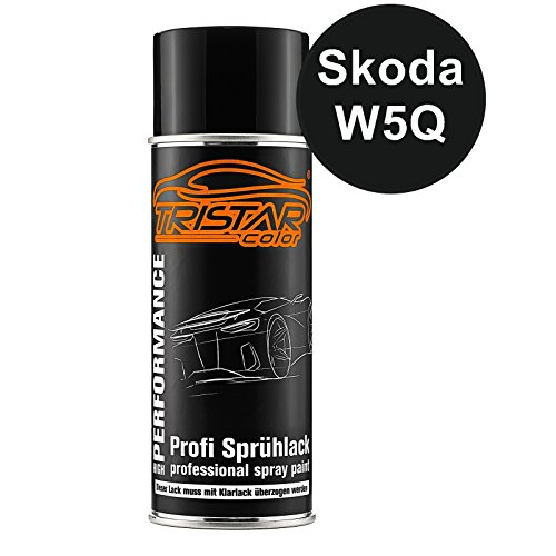 Preisvergleich Produktbild TRISTARcolor Autolack Spraydose für Skoda W5Q Modra Lava Metallic / Lava Blau Metallic Basislack Sprühdose 400ml