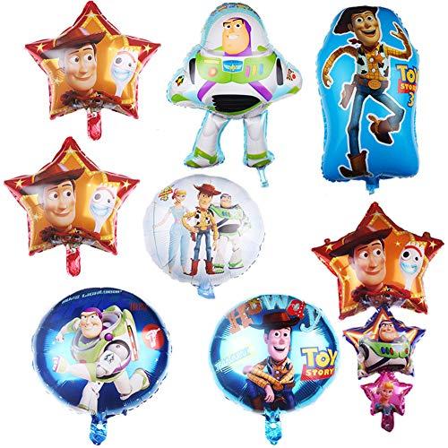 Toy Story Party Supplies Toy Story Set Globos para fiesta de cumpleaños Globos de papel de aluminio Decoraciones para fiesta de cumpleaños 8pcs