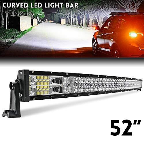 52 zoll Curved LED Bar 135 cm 2 Reihen Flutlicht Spot Combo Beam IP67 Offroad Fahrlicht für LKW ATV SUV Boot CO LIGHT, 9627-52
