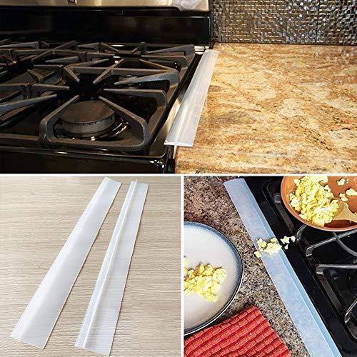 WXX 2 PCS 21 Pulgadas Cocina de Gas de Hendidura de Gaza Antifouling a Prueba de Polvo Impermeable de la Cocina de Sellado de Cinta (Negro) (Color : Transparent)