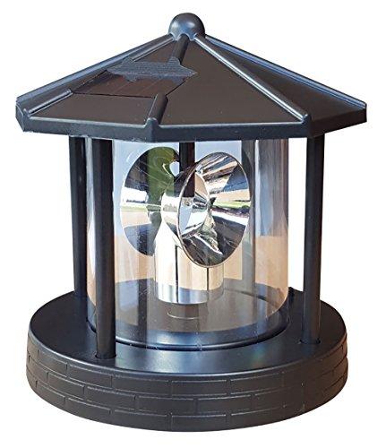 Ersatzkopf Solar f. Deko Leuchtturm Rundum Leuchtfeuer Solarkopf 360° 16,5cm NEU