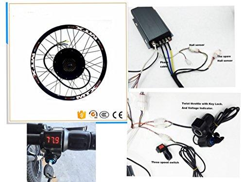 48 V 72dB V 26inch 5000 W E-Bike Conversion Kit, sabvoton 72 V 100 A Sine Wave Controller, Großhandel Leistungsstark 5000 W Brushless hinten Motor E-Bike Kit