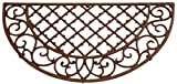 Esschert Design Edle Landhaus Stil Gusseisen Fußmatte, Fußabstreifer, Türmatte, Fußabtreter, Maße 66,5 x 34 x 1,8 cm