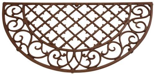 Elegante landhuisstijl gietijzeren deurmat, deurmat, deurmat, deurmat, afmetingen 66,5 x 34 x 1,8 cm
