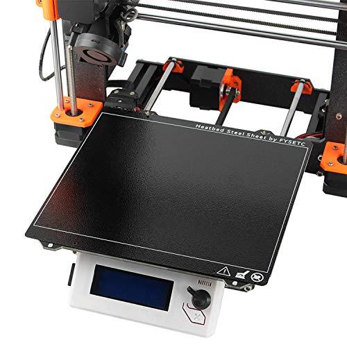 Aibecy 3Dプリンターアクセサリー PRUSA i3 mk52PEIコーティングされた織り目加工鋼板 高温耐性 黒 i3 MK2.5S MK3 MK3S用