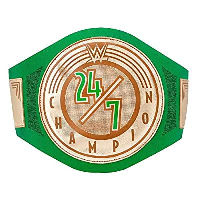 WWE Authentic Wear 24/7 Championship Toy Title Belt Gold