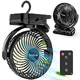 Simpeak 8000 mAh Ventilateur USB avec Télécommande Mini Ventilateur Portable de Camping Ventilateur de Table...