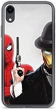 iPhone Xs Max Pure Anti-Scratch Case Spiderman Peter Parker with Iron-Man Tony-Stark Stan Lee Movie Shield Avengerss Comic Superhero