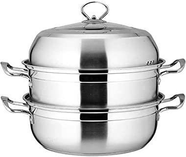 XXDTG Pressure Cooker with Glass Lid, Stainless Steel, Cookware, Compatible with Induction, Gas, Electric Stovetops, Dishwasher Safe