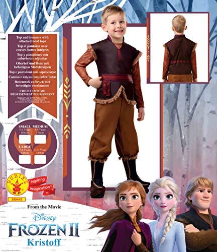 Rubie's- Costume Kristoff Frozen II 2 Ragazzi, Marrone, S, 300445-S
