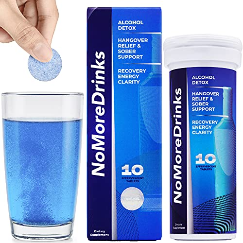 NoMoreDrinks Alcohol Cravings Reducer - Stop Drinking Alcohol Supplements & Liver Detox with Milk Thistle, Dandelion Root & Kudzu Root for Liver...