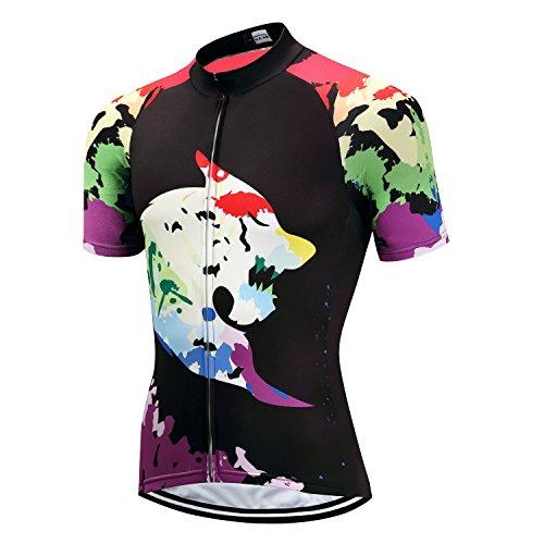 Pohoopo Men's Cycling Jerseys Breathable Short Sleeves Bicycle Jacket Cycling Shirt