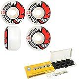 Spitfire Skateboard Wheels with Hybrid Ceramic Bearings Bighead 48mm White 99A