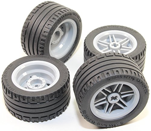 LEGO 8pc Technic Wheel and Tire SET (Mindstorms nxt ev3 tyre) 56145 44309 by Technic