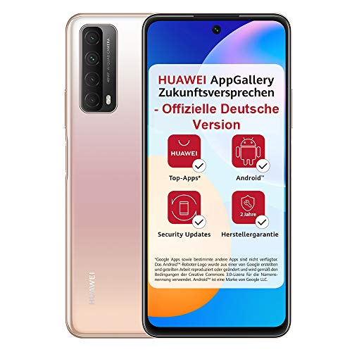 HUAWEI P smart 2021 Dual SIM Smartphone (16,94 cm - 6,67 Zoll, 128 GB interner Speicher, 4 GB RAM, Android 10 AOSP ohne Google Play Store, EMUI 10.1) blush gold + 5 EUR Amazon Gutschein