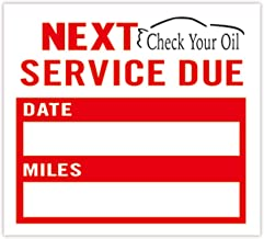 Oil Change Stickers | Check Your Oil Service Reminder Stickers 2X1.8 Inch,100 Adhesive Labels.
