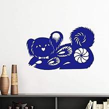 DIYthinker Year of Dog Animal China Zodiac Pattern Vinyl Wall Sticker Wallpaper Room Decal