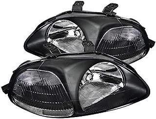 Fit Honda Civic 2/3/4 Dr Black Headlights Front Head Lights Lamps Left+Right