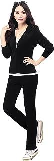 Aivtalk Women Hoodie Tracksuit Sportswear Long Sleeve Sweatsuit Velour Pant Sport Suit