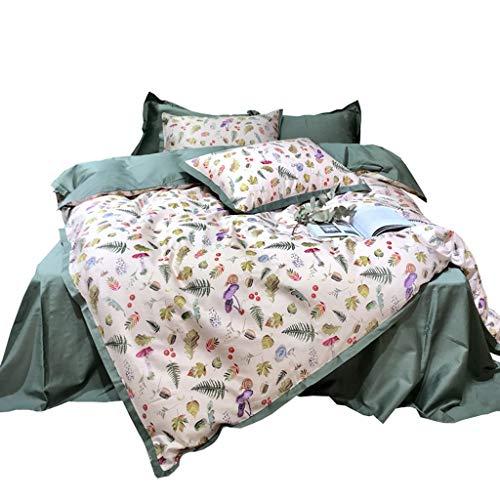 DYXYH Bettbezug Set Stickerei Bedruckte Bettwäsche Set Einzelne Doppelkönigin Kingsize-Bett Bettwäsche Blatt Steppdecken (Size : 1.5M)