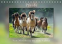 Pferde Vom Minishetty bis zum Kaltblut (Tischkalender 2022 DIN A5 quer): Lustiger Pferdemixkalender (Monatskalender, 14 Seiten )