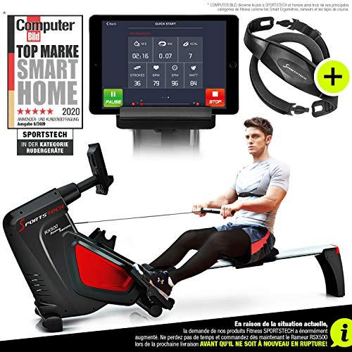 Sportstech RSX500 Rameur- Marque Allemande de qualité -Video &...