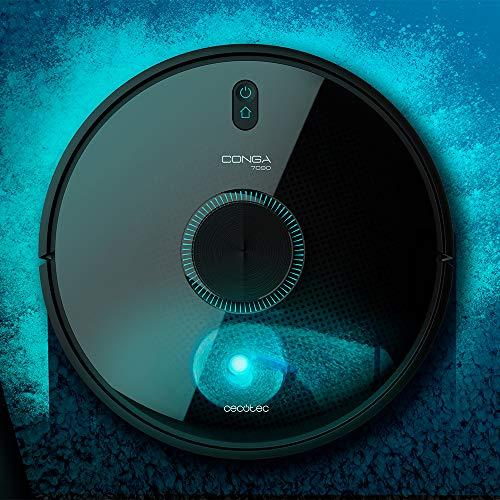 Cecotec Robot Aspirador y Fregasuelos Conga 7090 IA. Inteligencia Artificial y Láser, 4 en 1, 10000 Pa, APP, Roomplan