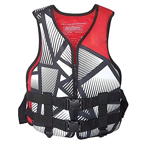 Younoo1 - Chaleco de salvamento para deportes náuticos, flotante, chaleco de natación para adultos, ajustable, ayuda a la flotabilidad de neopreno para natación, canotaje, Kayak