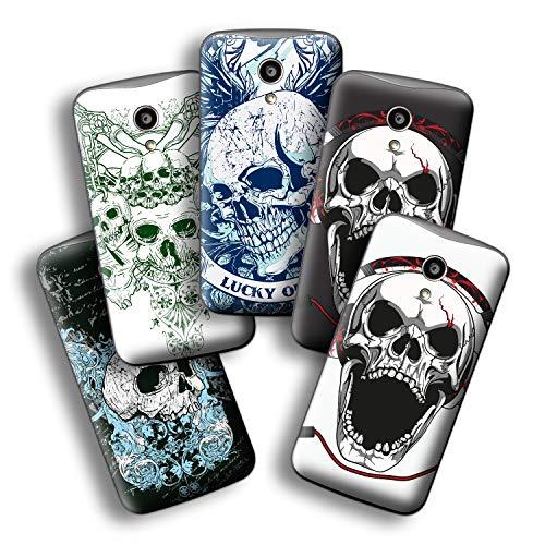 atFolix Designfolie kompatibel mit Motorola Moto G 2. Generation 2014, wähle Dein Lieblings-Design aus, Skin Aufkleber (Schädel und Knochen)