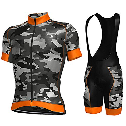 HXTSWGS Ciclismo Maillot Hombres Verano Ciclismo Ropa,Pro Team Cycling Jersey Men Short Sleeve MTB Riding Bicycle Sports Clothing-A03_5XL