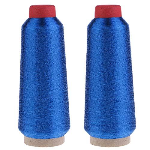 Best Price Bonarty 2pcs 3000 Meters Metallic Silk Thread Embroidery Sewing Thread DIY Craft