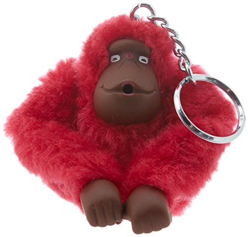 Kipling Monkeyclip M(10) - Portachiavi ad anello e catena Unisex Adulto, Rosa (True Pink), 5x10x15 cm (W x H x L)