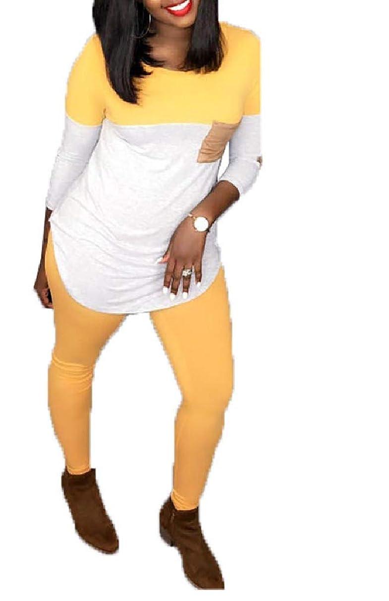 心のこもったビルダー空港Tootess Womens Long Sleeve Top T Shirts and Skinny Pants Fashion 2 Piece Outfits
